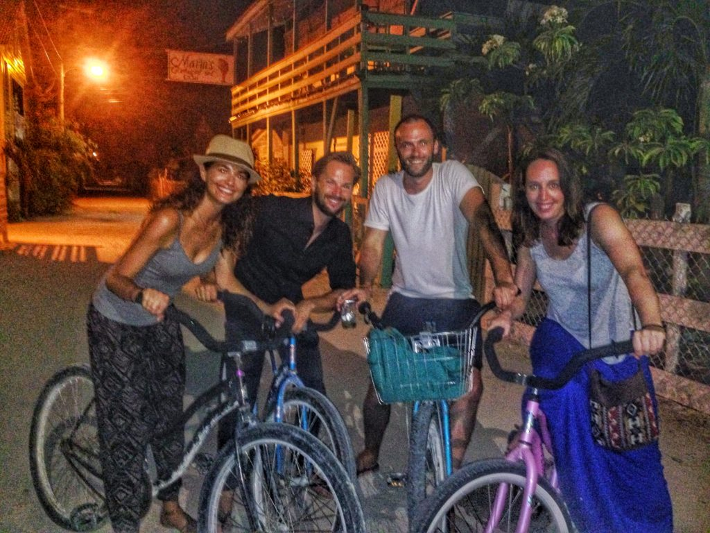 Late night cycling fun with our awesome new Dutch friends.