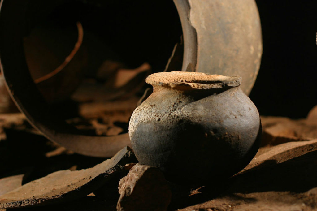 Ancient Mayan pots they used in their sacrificial rituals. So well preserved! Image by www.matadornetwork.com